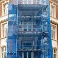 Tela de proteção de fachada